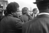 James Forman of SNCC in Martin Luther King, Jr.'s funeral procession on Auburn Avenue.