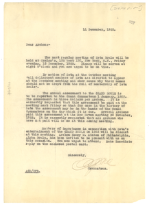 Circular letter from Sigma Pi Phi to W. E. B. Du Bois