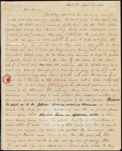 Letter from Anne Warren Weston, West St., [Boston], to Lucia Weston, Sept. 26, 1840