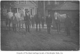 Southern Transfer Moving Company employees and horses, Seattle, ca. 1920
