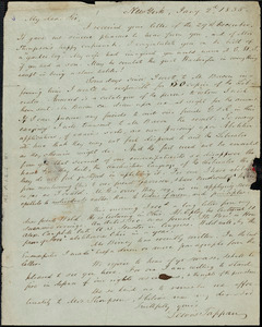 Letter from Lewis Tappan, New York, to George Thompson, 1835 Jan[uary] 2