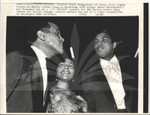 Coretta Scott King with Muhammad Ali and Harry Belafonte