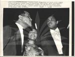 Coretta Scott King with Muhammad Ali and Harry Belafonte