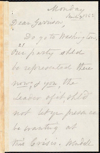 Letter from Ann Terry Greene Phillips, to William Lloyd Garrison, [March 24, 1862]