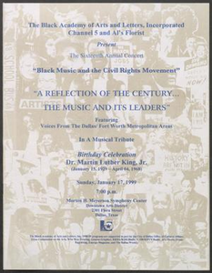 Program: A Reflection of the Century. . . The Music and its Leaders
