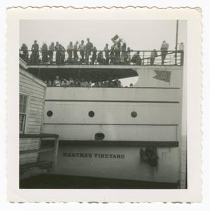 Digital image of people on board a ferry boat on Martha's Vineyard