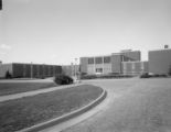 New buildings on the campus of Tuskegee Institute in Tuskegee, Alabama.