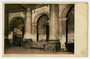 Postcard of Old Slave Block at St. Louis Hotel in New Orleans