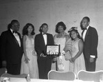 A. A. Peters receives award, Los Angeles, 1965