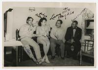 Langston Hughes, with J. Alston, Gladys Alston, and Somersett, 1950