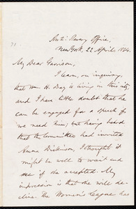 Letter from Oliver Johnson, New York, [N.Y.], to William Lloyd Garrison, 22 April, 1864