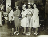Group of women standing for photograph