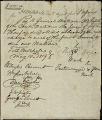 Creek Agency order and receipt to William McIntosh, 1819