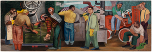 Production (mural study, Buchanan, Michigan Post Office)