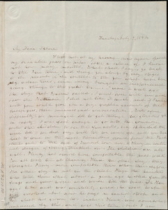 Letter from Emma Forbes Weston, [Boston, Mass.], to Deborah Weston, Sunday, July 9, 1842