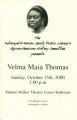 African-American History Committee presents Velma Maia Thomas
