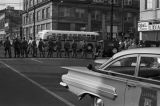 National Guard members on Montgomery Street in downtown Montgomery, Alabama, waiting for the Freedom Riders to leave on a bus for Jackson, Mississippi.