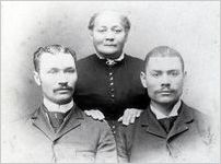 Alonzo Herndon with mother and brother