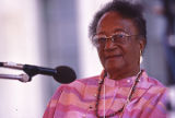 Onnie Logan at the 1990 Alabama Folklife Festival in Birmingham, Alabama.