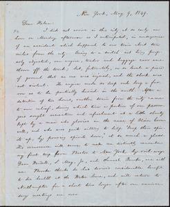 Letter from William Lloyd Garrison, New York, to Helen Eliza Garrison, May 9, 1849