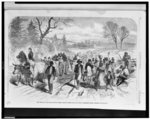 The effects of the proclamation - freed Negroes coming into our lines at Newbern, North Carolina