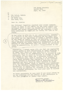 Letter from Dayton Citizens' Committee to W. E. B. Du Bois