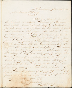 Letter from Henry Egbert Benson, Providence, [Rhode Island], to William Lloyd Garrison and Isaac Knapp, 1833 Nov[embe]r 20th