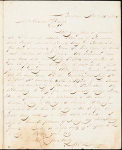 Thumbnail for Letter from Henry Egbert Benson, Providence, [Rhode Island], to William Lloyd Garrison and Isaac Knapp, 1833 Nov[embe]r 20th