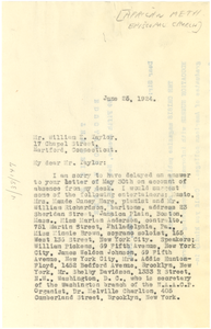 Letter from The Afro-American to W. E. B. Du Bois