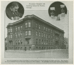 Provident Hospital and Training School for Nurses, Chicago, founded by surgeon Daniel Hale Williams, also depicted, in 1891