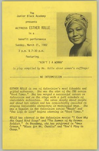 Program: Ain't I A Woman Ain't I A Woman - Esther Rolle