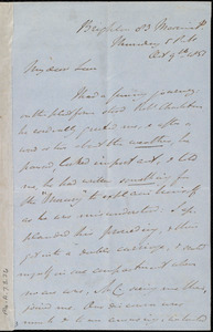 Letter from John Bishop Estlin, Brighton, [England], to Emma Forbes Weston, Thursday, 5 P.M., Oct. 9th, 1851