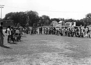 Track and field events on Harry Davis Day, sponsored by Phyllis Wheatley Community Center.