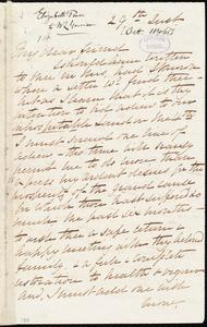 Letter from Elizabeth Pease Nichol, to William Lloyd Garrison, 29th [October 1846]