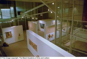 Bird's eye view of an exhibit in the James E. Kemp Gallery Reggae in the Caribbean