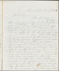 Letter from C. Austin Joy, Nantucket, [Massachusetts], to Maria Weston Chapman, 1844 [January] 9