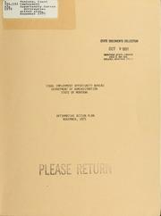 Affirmative action plan, November 1975, 1975