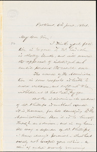 Letter from Charles Augustus Stackpole, Portland, [Maine], to William Lloyd Garrison, 1864 June 6th