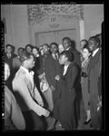 Thumbnail for Negro Nite Life on Central Avenue..Series, African American couple dancing with onlookers in Los Angeles, Calif., 1938