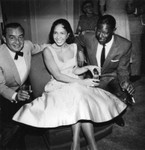 Nat King Cole and friends at party