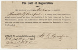 Oath of allegiance to the United States, submitted by Hamilton G. Bradford of Madison County, Alabama, at the end of the Civil War.