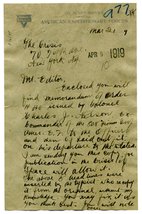 Letter from G. A. Rosedom to Editor of the Crisis