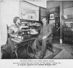 """Private office of Cyrus Field Adams, successful business man and publisher of """"The Appeal,"""" Chicago, Ill., an elegantly appointed Afro-American Newspaper office"""