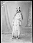Full length front view Indian maiden. St Louis, Indian Exhibit of the World's Fair. 1904