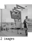 Job Discrimination Pickets Against Dobbs--Mel's Drive-in