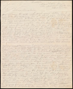Letter from Deborah Weston, Boston, Marlboro Hall. The dirtiest hole in existence, to Caroline Weston, [1847 May 27]