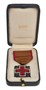 American Red Cross bronze service medal and case