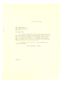 Letter from W. E. B. Du Bois to Sie Thorgues