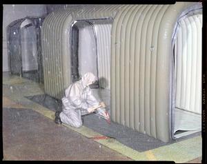 CEMEL, clothing, men's raingear, test in rain court