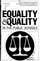 Equality and quality in the public schools report of a conference